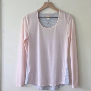 Lucy pink and striped long sleeve training shirt